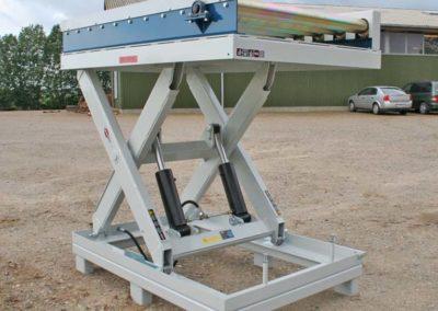 Rullebane kraftig monteret på 25 tons løftebord
