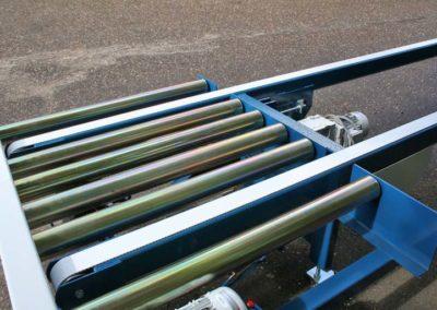 Rullebane med indb. pneymatisk hævbar tandremsbane