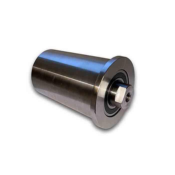 Konisk stålrulle for bølgekants bånd
