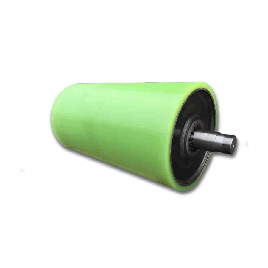 Tromle med polyurethanbelægning