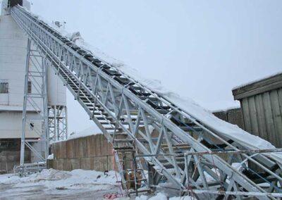 58 meter gittertransportør med presenningsoverdækning