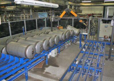 Anlæg til produktion af varmtvandsbeholdere