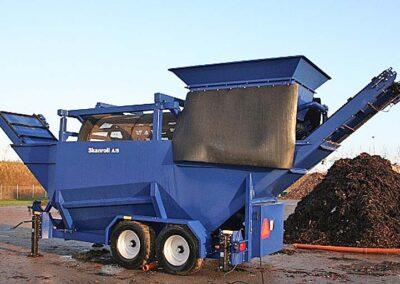 Mobilt sorteringsanlæg til brug indenfor genbrugsområdet