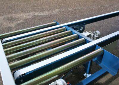 Rullebane med indb. pneumatisk hævbar tandremsbane