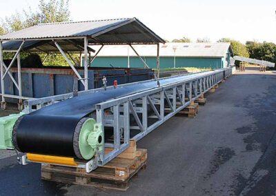 Varmt galvaniseret gittertransportør
