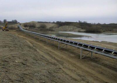 Jordtransportbånd 100-300 meters længde