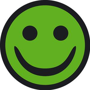 Grøn smiley Skanroll
